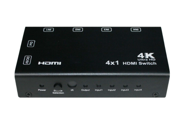 4x1 HDMI Switch / Switcher With PIP - Support 4K comes with Remote Control