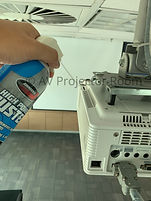 Maintenance service using electronic cleaner for all brands of LCD projector by AV Projector room Malaysia