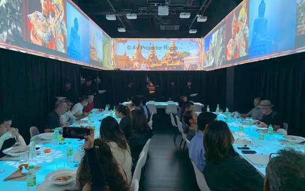 Interactive dining experience using projector