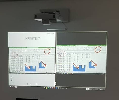 Epson certified interactive projector installer by Infinite IT