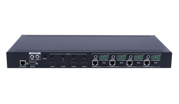 4x4 HDBaseT Matrix Switcher - Support up to 4k@60HZ, HDCP2.2