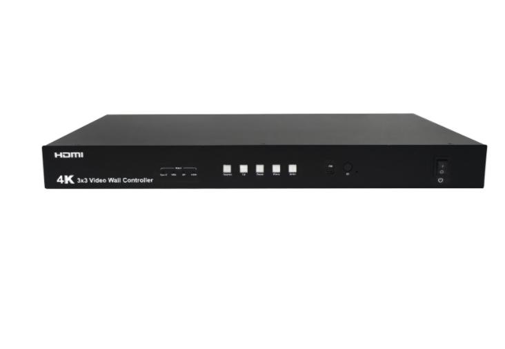 HDMI 3x3 4K Video Wall Controller with USB TYPE-C /VGA / DP/ HDMI Inputs