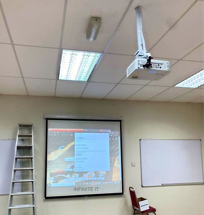 Projector installation by Infinite IT