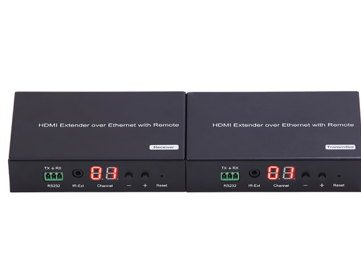 H.264 HDMI over IP Extender with LED, Remote and RS232