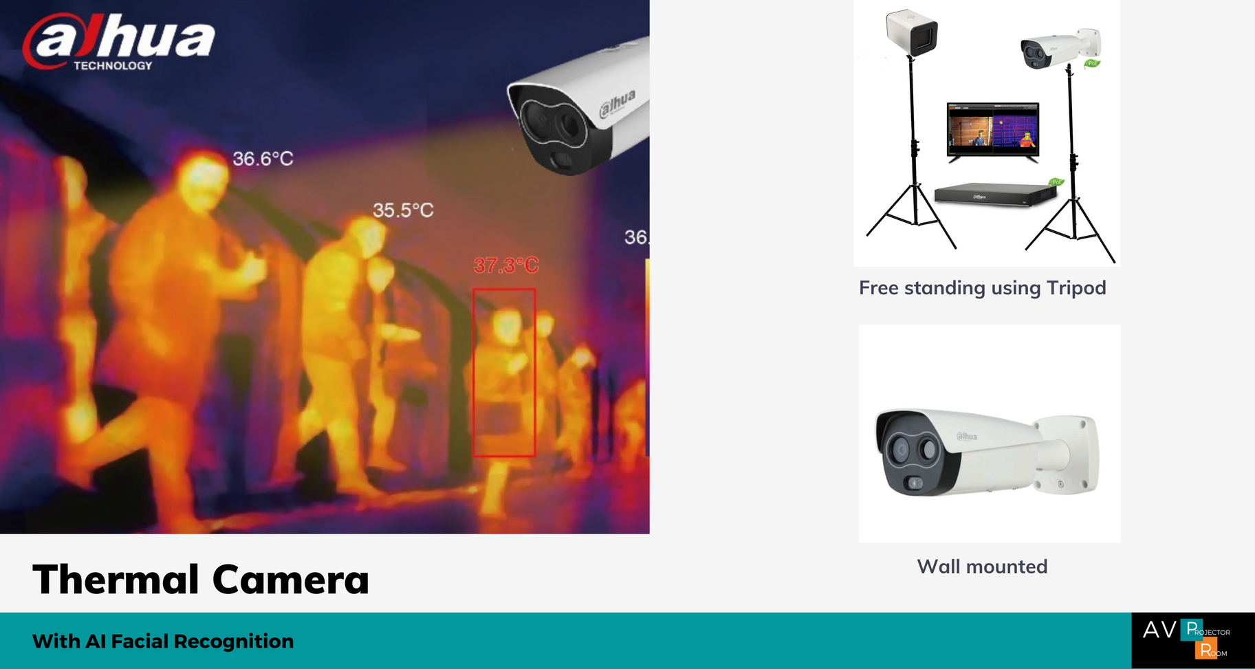 Dahua Thermal Camera with facial recognition Malaysia | AV Projector Room