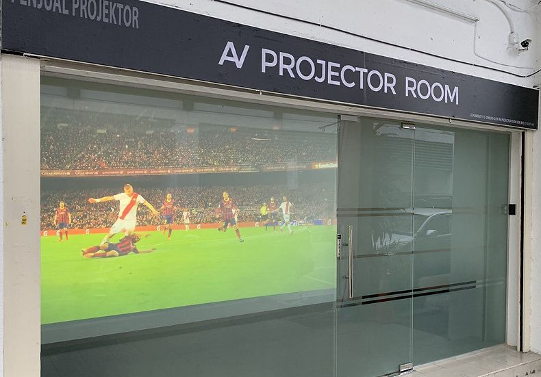 AV Prime adhesive Rear Projection Film Screen for Projector Malaysia