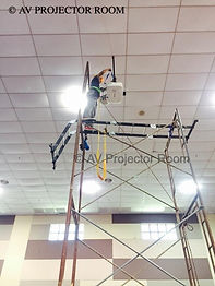 Safety first installation by AV Projector room Malaysia
