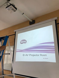 Projector installation with screen by AV Projector room malaysia