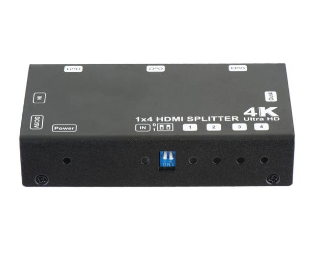 1x4 HDMI Splitter - Up to 4Kx2K@60Hz, Support EDID, HDCP