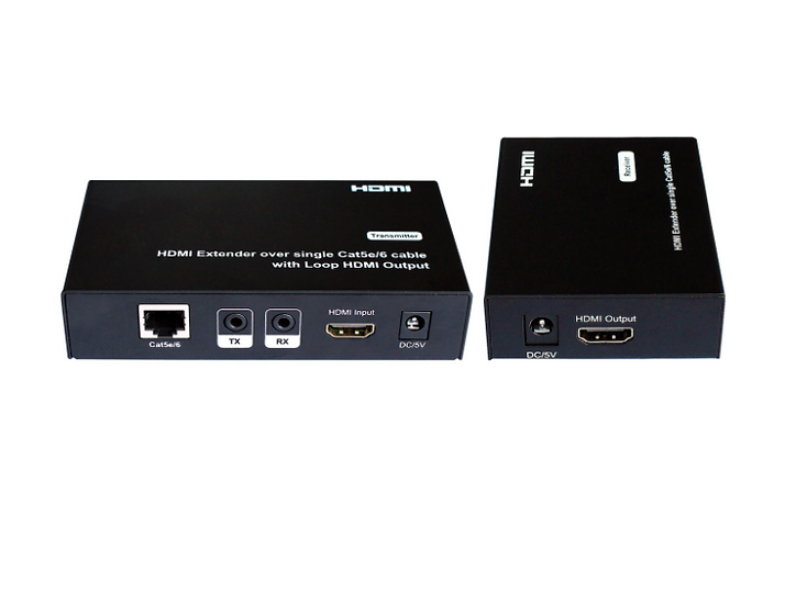 HDMI Extender over single Cat5e/6 cable with Loop HDMI Output