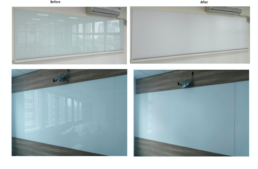 AV Prime Clear adhesive Dual Projection Film Screen for Projector Malaysia