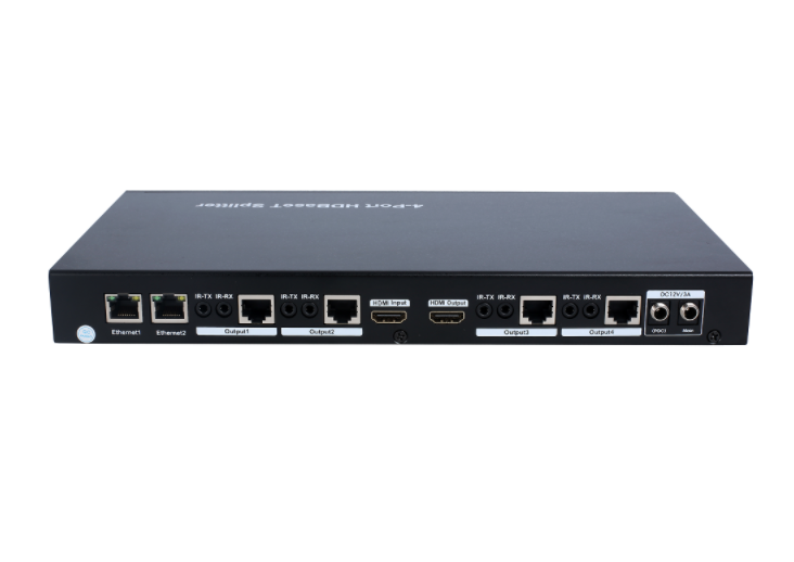 100m 1x4 HDBaseT Splitter - HDCP2.2, support POC, Ethernet, RS232 Pass through