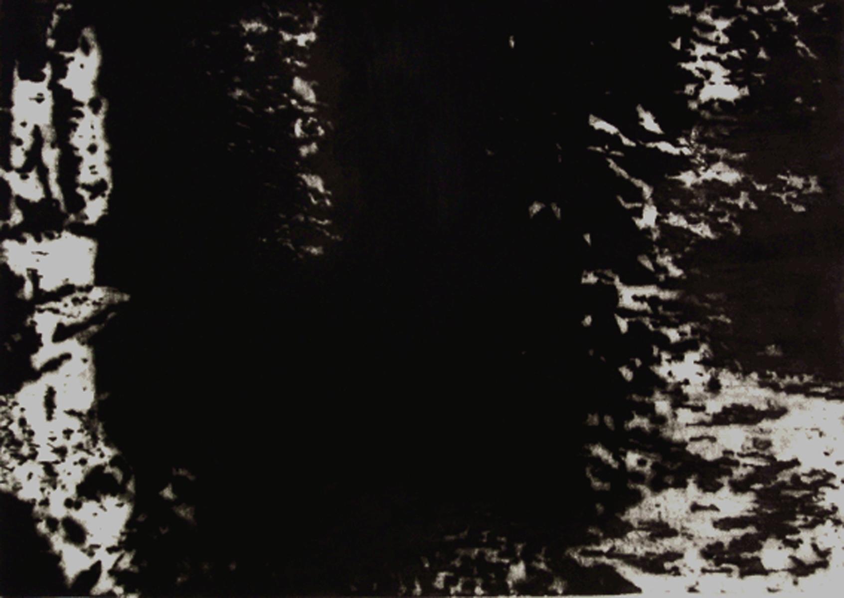Irrgarten_Frotage_50cm_x_40cm_Ölfarbe_Papier_2004_Im_Besitz_des_Künstlers