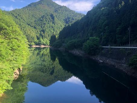 生野町の銀山湖のヘラブナ釣り