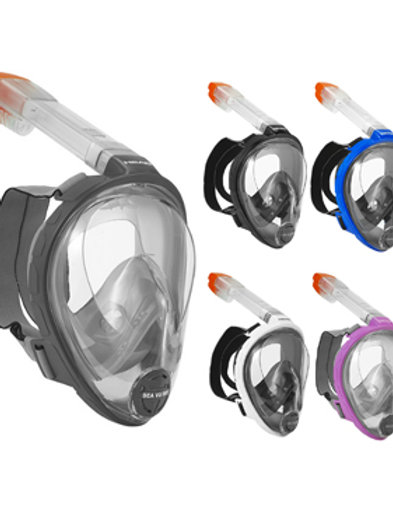 Mares Head Sea Vu Dry FFM Full Face Snorkel Mask for Snorkeling