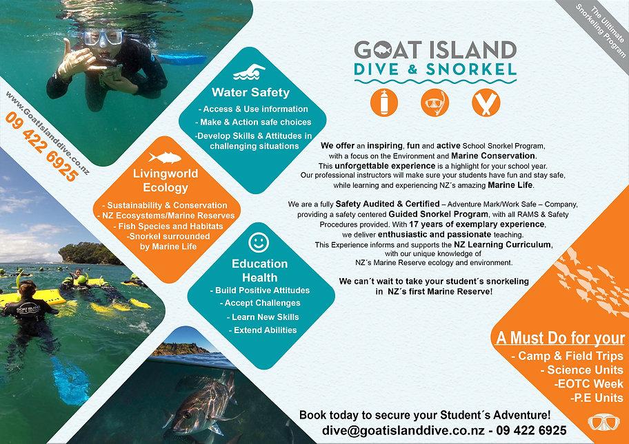 School snorkel experiance, Goat Island Marine Reserve