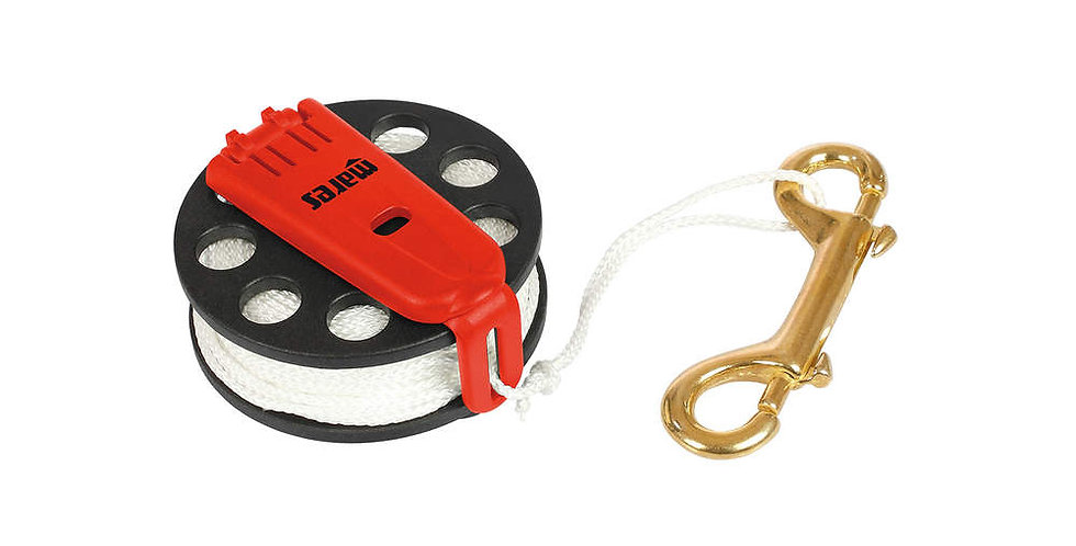 Compact Diver Reel with double clip