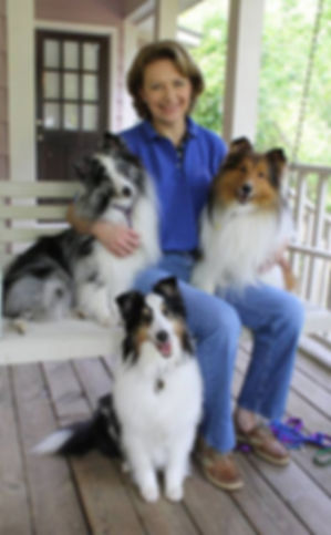 Phyllis Beasley, CPDT-KA, and her Shelties