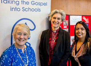 Engage's festive celebration attended by Bishop Jo and Woking Mayor, Cllr. Beryl Hunwicks