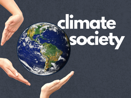 """Together, we are a community of leaders achieving climate action."" Climate Society"