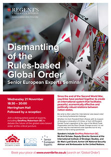SEE Seminar - Global Rules Based Order s