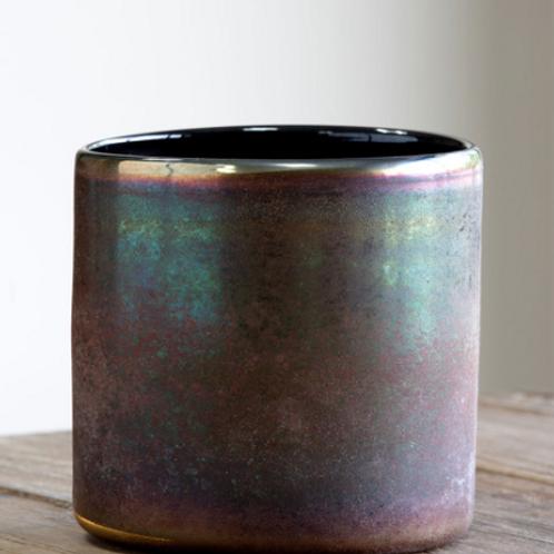 Amethyst Luster Glass Cylinder Vase