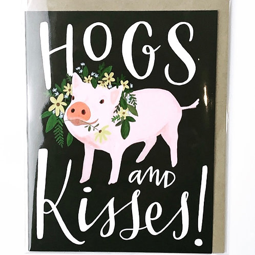 Hogs & Kisses Card