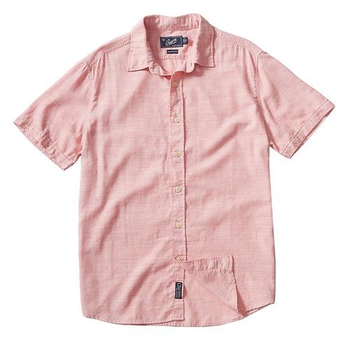 Rosewood Printed Slub Herringbone Short Sleeve Shirt