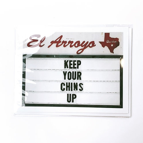 Keep Your Chins Up Card