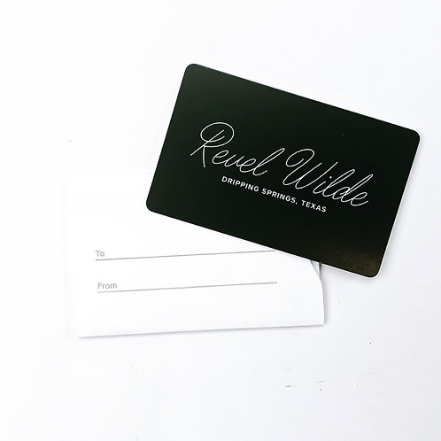 $100 Revel WILDE Gift Card