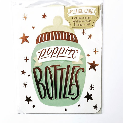 Poppin' Bottles - Baby Card
