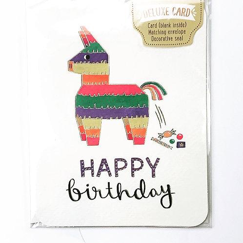 Piñata - Happy Birthday Card
