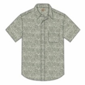 Faherty Island Shirt - Olive Frond Print