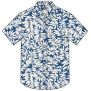 Faherty SS Playa Button Down - Blue Botanical
