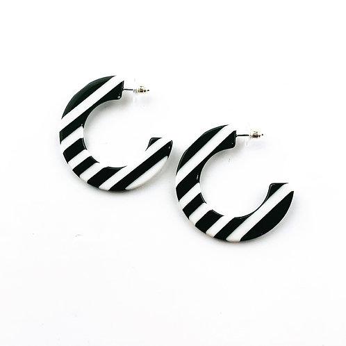 Black & White Stripe Hoop