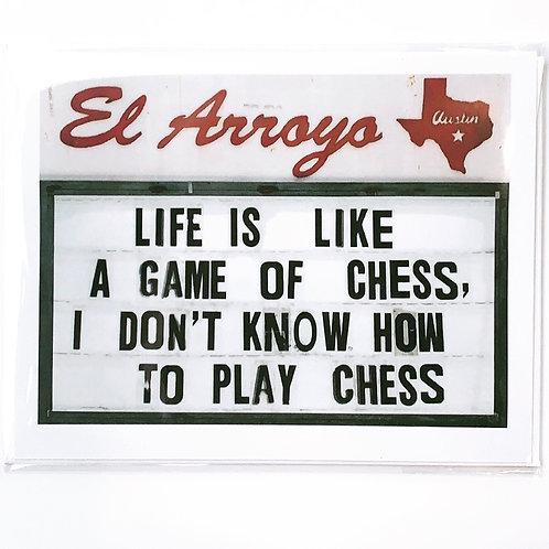 Life is Like Chess Card