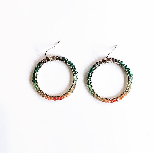 Multi Color Beaded Earrings