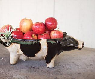 Ceramic Cow Bowl