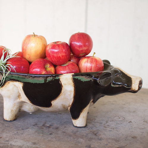 Ceramic Cow Bowl