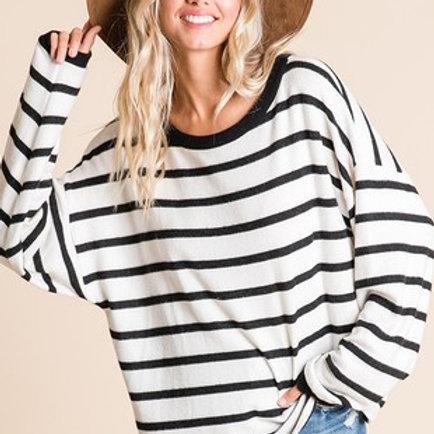 Black & White Stripe Knit