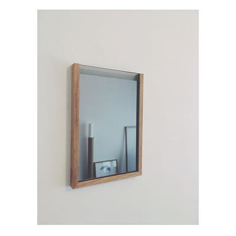 mic spiegel + lijst in massief eik