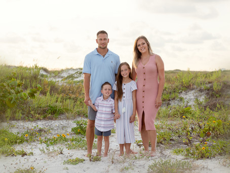 Wildflowers, Sand, Shells and a Whole Lotta Love with this Family beach session.