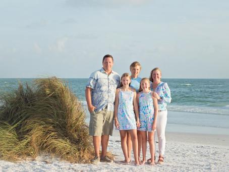 Beam Family Siesta Key Beach Portraits