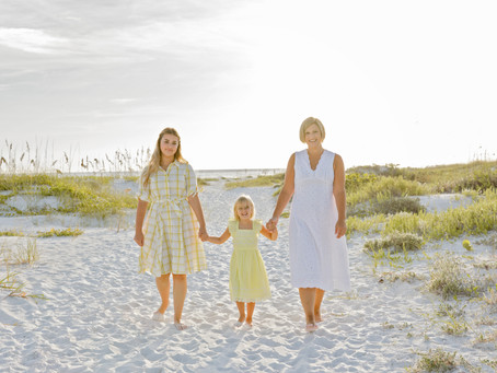 Mother & Daughters at the Beach