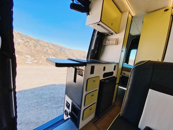 Kitchen View With An Open Door