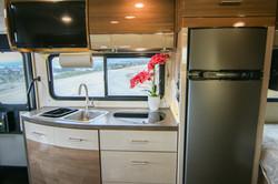Kitchen, Sink, 2 Burner Range, Refrigerator