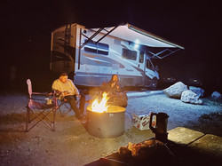 Camping By A Bon Fire