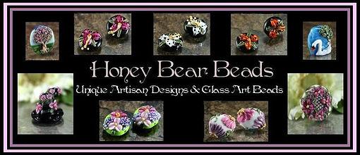 Unique handmade lampwork glass art beads. honeybearbeads.com
