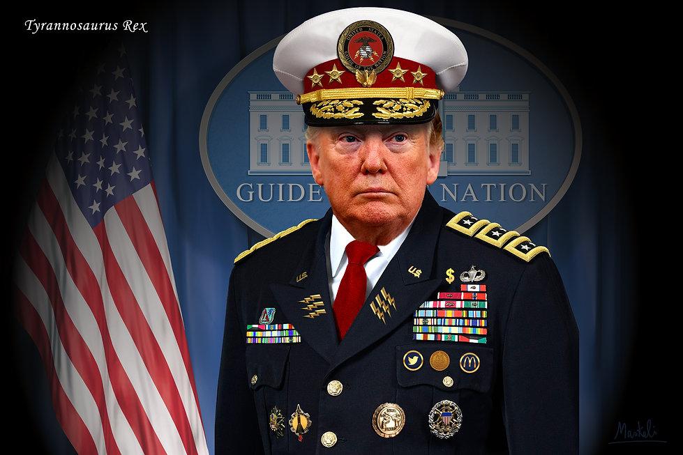 Portrait de Trump en dictateur