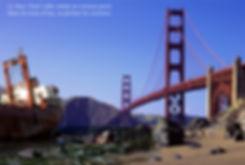 La baie de San Francisco vidée de ses eaux devant le Golden Gate